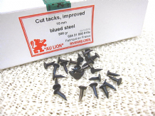 500g box of Upholstery tacks 10mm - 1000 approx blue steel improved cut nails